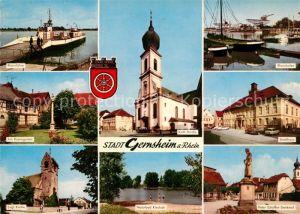 Gernsheim Rheinfaehre Rosengarten Ev Kirche Kath Kirche Naturbad Kiesloch Rheinhafen Stadthaus Peter Schoeffer Denkmal Gernsheim