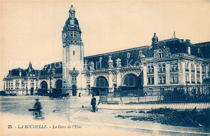 La_Rochelle_Charente Maritime La Gare de l`Etat La_Rochelle