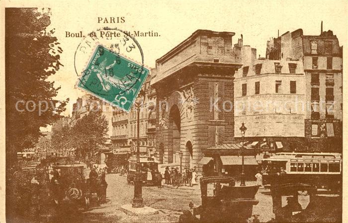 Paris Boulevard et Porte St. Martin Paris