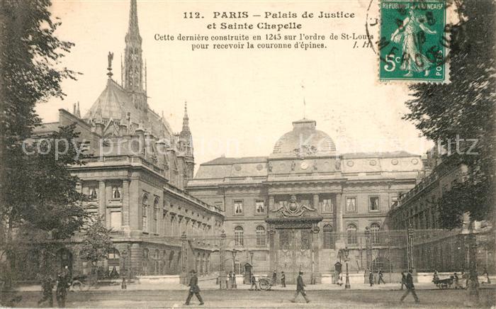 Paris Palaise de Justice et Sainte Chapelle Paris