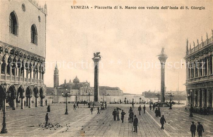 Venezia_Venedig Piazetta di San Marco con veduta dell Isola di San Giorgio Venezia Venedig