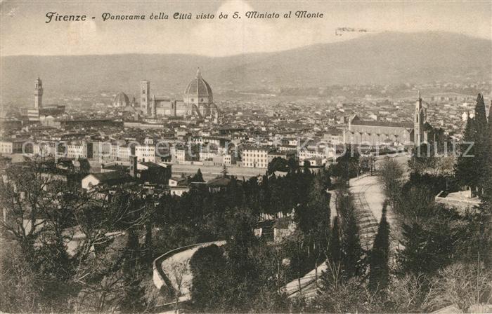 Firenze_Toscana Panorama della Citta visto da San Miniato al Monte Firenze Toscana