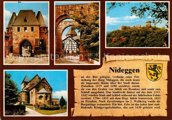 AK / Ansichtskarte Nideggen_Eifel Duerener Tor Nixtor Burg Nideggen Marktplatz Nideggen Eifel