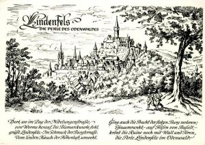 AK / Ansichtskarte Lindenfels_Odenwald Nach einem zeitgenoessischen Stich von Merian  Lindenfels Odenwald