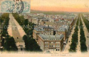 AK / Ansichtskarte Paris Avenue de Bois de Boulogne et Avenue de la Grnade Armee Vue prise de l`Arc de Triomphe Paris