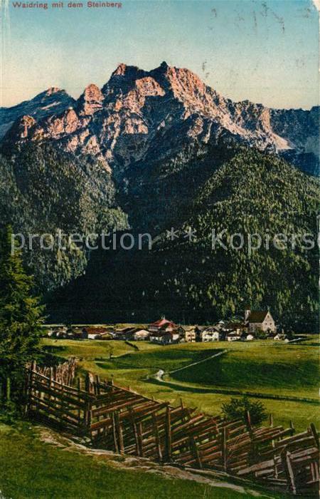 AK / Ansichtskarte Waidring_Tirol mit Steinberg Waidring Tirol