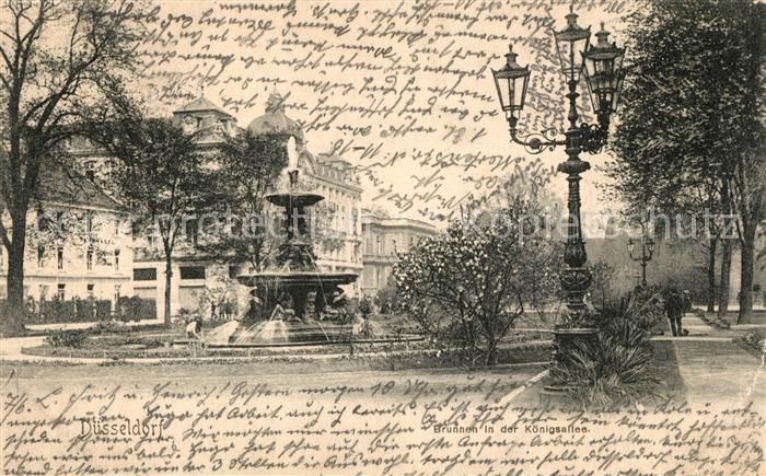 AK / Ansichtskarte Duesseldorf Brunnen in der Koenigsallee Duesseldorf