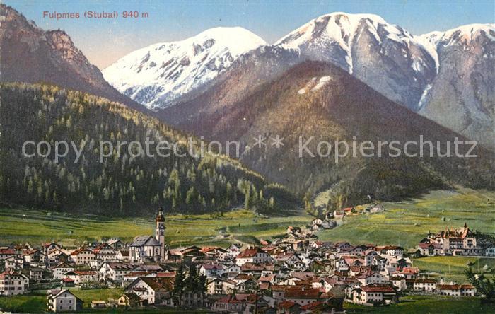 AK / Ansichtskarte Fulpmes_Tirol Gesamtansicht mit Alpenpanorama Fulpmes Tirol