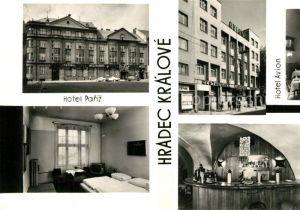 AK / Ansichtskarte Hradec_Kralove Hotel Pariz Hotel Avion Zimmer Bar Hradec Kralove