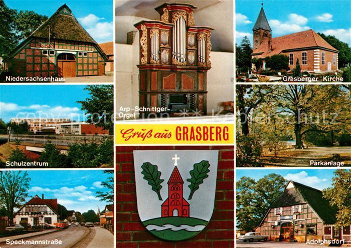 AK / Ansichtskarte Grasberg_Bremen Arp Schnittger Orgel Kirche Adolphsdorf Grasberg Bremen