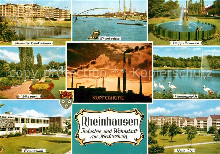 AK / Ansichtskarte Rheinhausen_Duisburg Kupferhuette Johanniter Krankenhaus Krupp Brunnen Rheinhausen Duisburg