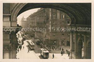 AK / Ansichtskarte Strassenbahn Genova Ponte Monumentale Via XX Settembre  Strassenbahn