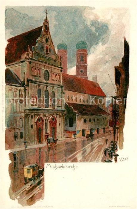 AK / Ansichtskarte Kley Michaelskirche Muenchen  Kley