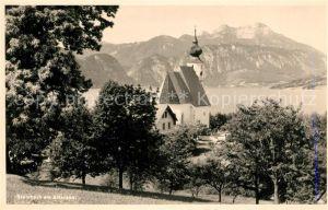 AK / Ansichtskarte Steinbach_Attersee Kirchenpartie Steinbach Attersee