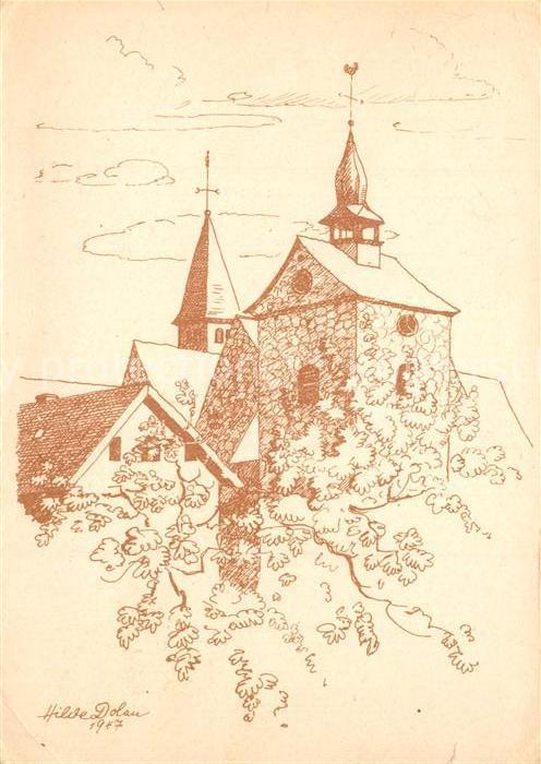 AK / Ansichtskarte Enger Glockentrum Wittekindkirche nach Originalzeichnung von Hilde Dolan Kuenstlerkarte 1000 Jahrfeier Enger