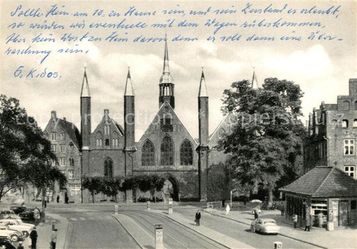 AK / Ansichtskarte Luebeck Koberg Blick zum Heiligen Geist Hospital Luebeck