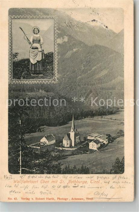 AK / Ansichtskarte Eben_Achensee Wallfahrtsort mit St Nothburga Heiligenfigur Eben Achensee