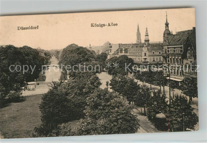 AK / Ansichtskarte Duesseldorf Stadtgraben Koenigsallee Duesseldorf