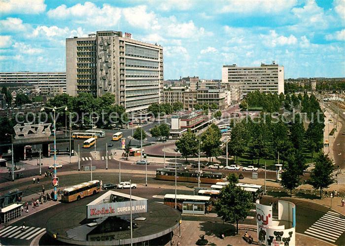 AK / Ansichtskarte Rotterdam Bahnhofsplatz Weena und Hauptpostamt Rotterdam