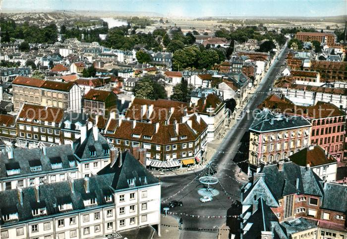 AK / Ansichtskarte Elbeuf Place du Calvaire et Cours Carnot Vue aerienne Elbeuf