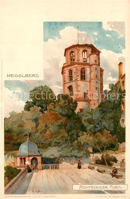 AK / Ansichtskarte Mutter_K. Heidelberg Achteckiger Turm  Mutter_K.