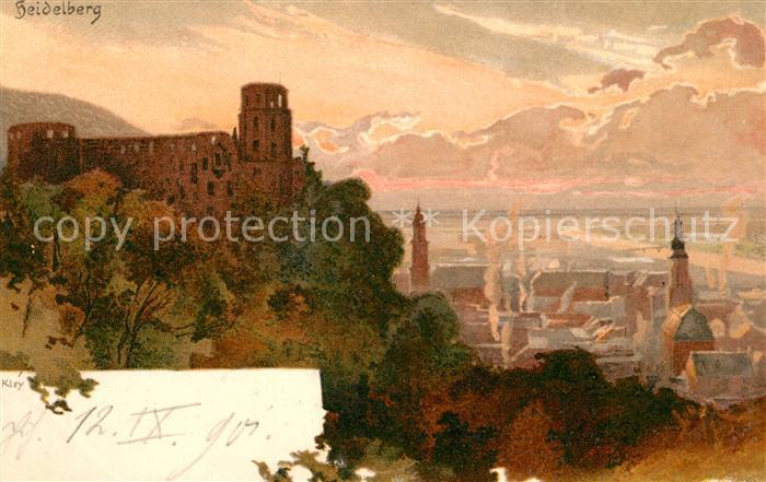 AK / Ansichtskarte Kley Heidelberg Schloss  Kley