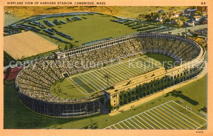 AK / Ansichtskarte Stadion Harvard Stadium Cambridge Airplane View  Stadion