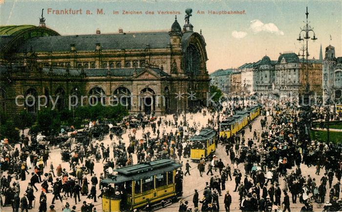 AK / Ansichtskarte Strassenbahn Frankfurt am Main Hauptbahnhof  Strassenbahn