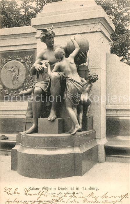 AK / Ansichtskarte Hamburg Kaiser Wilhelm Denkmal Hamburg