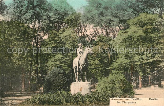 AK / Ansichtskarte Berlin Amazone von Tuaillon Denkmal Statue im Tiergarten Berlin