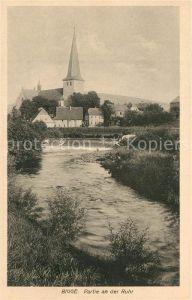 AK / Ansichtskarte Bigge Partie an der Ruhr Blick zur Kirche Bigge