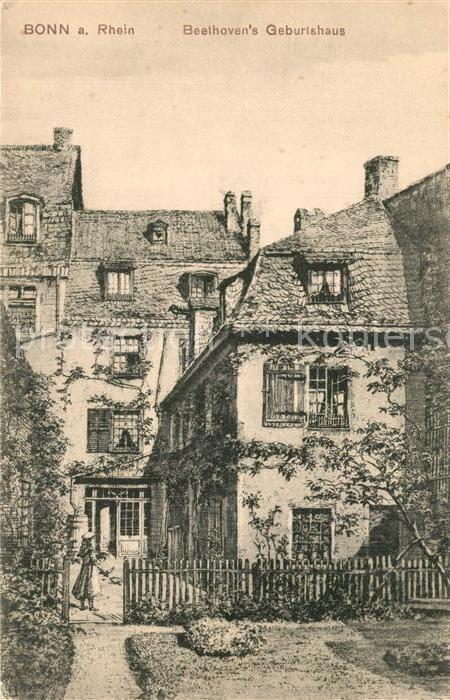 AK / Ansichtskarte Bonn_Rhein Beethovens Geburtshaus Kuenstlerkarte Bonn_Rhein