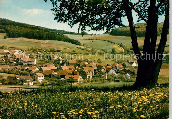 AK / Ansichtskarte Wickersrode Gasthaus Zur Post Ortsansicht Wickersrode