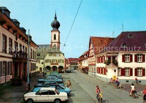 AK / Ansichtskarte Gernsheim Stadthausplatz mit kath Kirche Gernsheim