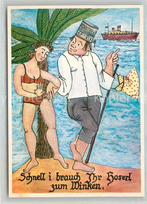 AK / Ansichtskarte Schiffe_Ships_Navires Humor Mann Frau  Schiffe_Ships_Navires