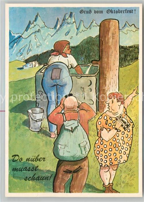 AK / Ansichtskarte Humor Frau Mann Fernglas  Humor