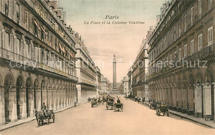 AK / Ansichtskarte Paris Place et la Colonne Vendome Paris