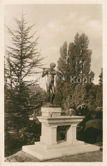 AK / Ansichtskarte Dahlem_Berlin Schmuckbrunnen im Botanischen Garten Statue Dahlem_Berlin