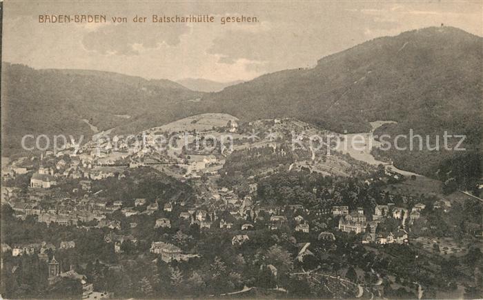 AK / Ansichtskarte Baden Baden Panorama Blick von der Batscharihuette Baden Baden