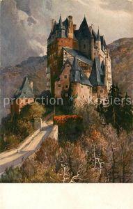 AK / Ansichtskarte Wierschem Burg Eltz Senftenberger Krone Brikett Serien Serie XX Bild 1 H. R. Schulze Kuenstlerkarte Wierschem