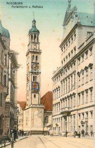 AK / Ansichtskarte Augsburg Perlachturm und Rathaus Augsburg