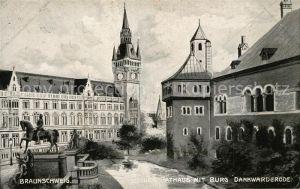 Braunschweig Neues Rathaus mit Burg Dankwarderode Braunschweig