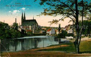 Goerlitz_Sachsen Blick auf die Peterskirche und Neisse Goerlitz Sachsen