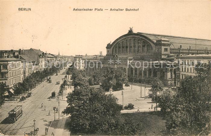 Berlin Askanischer Platz Anhalter Bahnhof Berlin