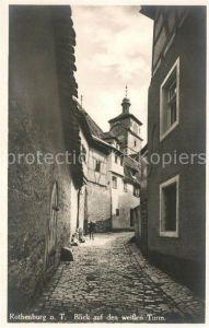 Rothenburg_Tauber Blick zum weissen Turm Rothenburg Tauber
