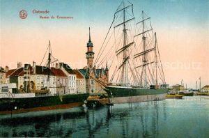 Ostende_Flandre Bassin du Commerce Segelschiff Ostende_Flandre
