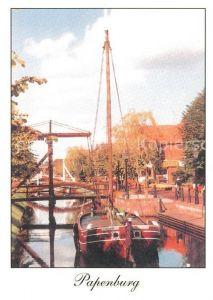 AK / Ansichtskarte Papenburg_Ems Holzbruecke Kanal Papenburg Ems