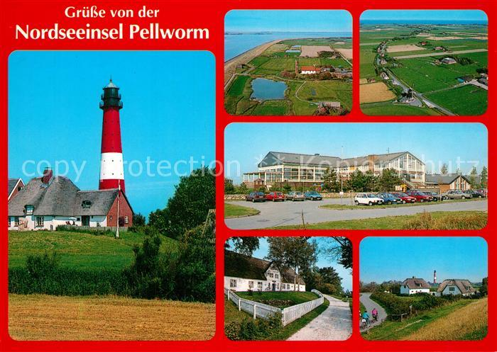 AK / Ansichtskarte Pellworm Insel Leuchtturm Fliegeraufnahme Pellworm