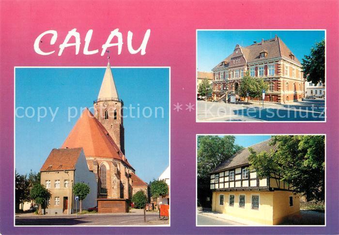 AK / Ansichtskarte Calau Stadtkirche Rathaus Heimatmuseum Calau