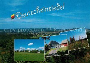 AK / Ansichtskarte Deutscheinsiedel Panorama Fachwerkhaus Landschaft Deutscheinsiedel
